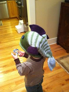 Knitted Fish Hat #crafty