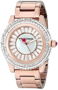 Betsey Johnson Women's BJ00301-03 Analog Display Quartz Rose Gold Watch -