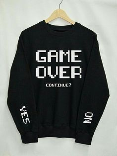 Game Over Shirt Sweatshirt Clothes Pullover Top by Upicestore Source by Tumblr Mode, Style Tumblr, Mode Outfits, Casual Outfits, Casual Dresses, Club Outfits, Top Fashion, Fashion Outfits, Fashion Women