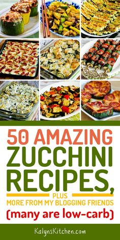 If you're looking for tasty ways to use zucchini, here are 50 Amazing Zucchini Recipes, and many are low in […] Low Carb Zucchini Recipes, Healthy Recipes, Vegetable Recipes, Diet Recipes, Vegetarian Recipes, Cooking Recipes, Recipe Using Zucchini, Cooking Tips, Cooking Corn