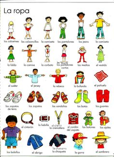 Teach Another Language to Kids (T.A.L.K.) Davis CA: Spanish Activities Colors, Shapes and Clothes