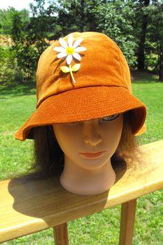 Vevet Velour Rust colored Ladies Bucket Hat   Vintage Union Made United  Hatters Cap Millinery Works b5487ca8c463