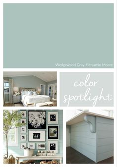 Benjamin Moore Wedgewood Gray is one of the most popular paint colors out there today. We're highlighting why this beautiful color works so well. Benjamin Moore Wedgewood Gray, Benjamin Moore Paint, Benjamin Moore Colors, Palladian Blue Benjamin Moore, Benjamin Moore Bathroom, Interior Paint Colors For Living Room, Bathroom Paint Colors, Paint Colors For Home, Interior Colors