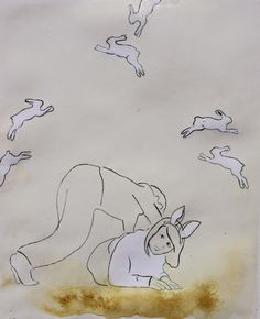Happy Easter! Drypoint etching by charlotte Donkers
