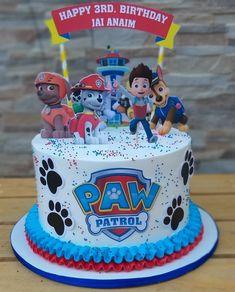 Paw Patrol Torte, Bolo Do Paw Patrol, Marshall Cake Paw Patrol, Paw Patrol Bone Cake, Paw Patrol Cupcakes, Baby Boy Birthday Cake, 3rd Birthday Cakes, 4th Birthday, Birthday Ideas