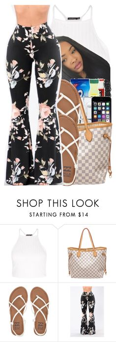 """Untitled #307"" by glowithbria ❤ liked on Polyvore featuring Boohoo, Louis Vuitton and Billabong"