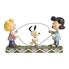 Peanuts Jim Shore Sally Lucy and Snoopy Jump Rope Statue - Enesco - Peanuts - Statues at Entertainment Earth