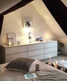 Hoboken Master Bedroom design with reclaimed wood feature wall Ikea Bedroom Design, Home Bedroom, Bedroom Decor, Bedroom Furniture, Bedrooms, Bedroom Design Inspiration, Inspiration Wall, My New Room, Interior Design