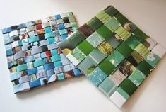 Handmade Coasters Made From Recycled Magazines | Home Interior Design Themes