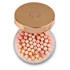 The Body Shop Brush On Radiance. Brush these heavenly pearls right above your bronzer to create a soft dewy glow. The Body Shop, Body Shop At Home, All Things Beauty, Beauty Make Up, Body Shop Bronzer, Sephora, Shops, Perfume, Vegan Makeup
