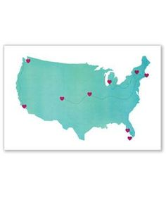 Roadtrip Map Poster | Some of these gifts are no longer available. Check out our 2014 round-up of Valentine's Day gifts for him for more great ideas.