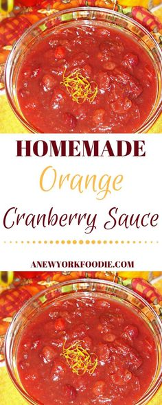 Homemade Orange Cranberry Sauce, so much better than the stuff that's in the can! Get the recipe today!