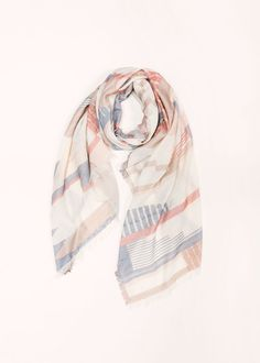 Multi-Colored Geometric Scarf .................. #lookbym #fashion #scarf #lightweight #trend #trendy #ootd #spring #accessories #womensfashion #multicolored #geometric #shapes #prints #longscarf #pastel #colors #pastel #pretty #musthave