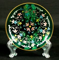 MOSER DECORATED PLATE.