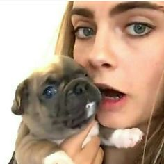Cara and puppy