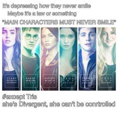 Haha, yeah! And Percy looks CLOSE to a smile. But he always smiles, or atleast most of the time anyway. i love divergent!