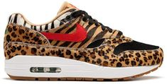 These Air Max are hot! Leopard Print Converse, Leopard Nikes, Air Max 1s, Nike Air Max, Me Too Shoes, Men's Shoes, Athletic Fashion, Athletic Style, Purses For Sale