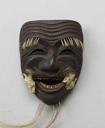 Noh mask, Kokushiki (an old man, for celebration and prayer ) - eKokuhou