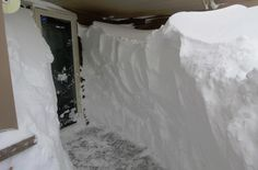 And here's the path that had to be shoveled to get to it. | 25 Truly Terrifying Pictures Of The Snow In Eastern Canada Right Now
