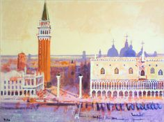 THE DOGES PALACE   by Colin Ruffell  This is the heart of Venice. St Marks Square and The Doges Palace overlooked by the Campanile. Prints available on www.crabfish.com and Artfinder
