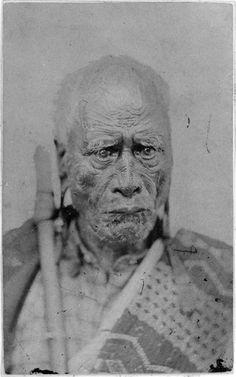 Portrait of Taraia Ngakuti te Tumuhia 1790?-1872, 1860-1872