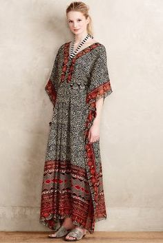 I would make in another colour, perhaps just one.Ranna Gil Karina Caftan #anthrofave