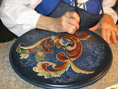 Norwegian Rosemaling - several other photos including good close ups