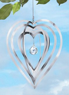 Sprial Heart Hanging Wind Spinner