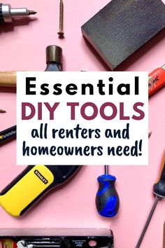 Woodworking Tools For Beginners, Woodworking School, Woodworking Classes, Woodworking Projects Diy, Diy Projects, Basic Tool Kit, Basic Tools, Home Tools, Diy Tools