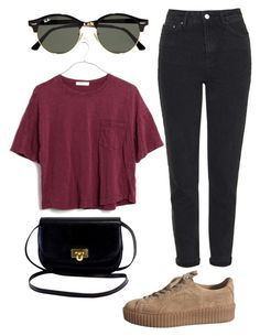 """""""Untitled #34"""" by nastea-gafenco on Polyvore featuring Topshop, Ray-Ban and Madewell"""