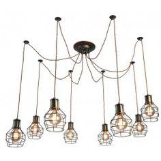 Люстра подвесная arte lamp a9182sp-8bz interno 8xe27 40w 220v ip20
