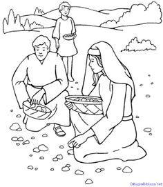 God Gives Manna Coloring Page