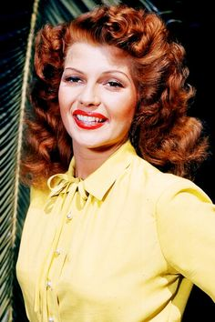 "Rita Hayworth wearing a yellow shirt, - Life will never be the same. - Hayworth never knew how great she was.There Never Was a Woman Like Gilda"". Hollywood Actor, Golden Age Of Hollywood, Vintage Hollywood, Hollywood Glamour, Hollywood Actresses, Classic Hollywood, Actors & Actresses, Rita Hayworth, Actrices Hollywood"