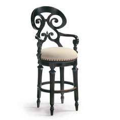 "Louisa Swivel Bar Height Bar Stool (30""H seat)"