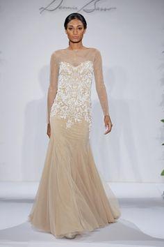 0f2fb0617c35 Dennis Basso Sheath Wedding Dress