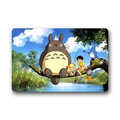 "Evergreen Home Fashions My Neighbor Totoro Machine-washable Doormat Custom Door Floor Mat/Gate Pad 23.6""(L) x 15.7""(W) Doormat/Pad http://www.amazon.com/dp/B00VHNSU5Q/ref=cm_sw_r_pi_dp_lU7Fvb12QCEPY"