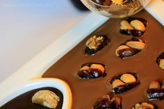 The Chocolate river filled with 35% Cocoa Chocoate, dates and nuts, health on a plate   Fardoulis Chocolates Chocotate Plato  www.choc.com.au
