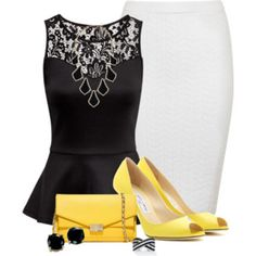 Peplum & Pencil Skirt