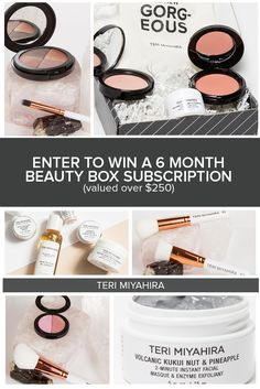 TERI MIYAHIRA Giveaway! Win a 6-Month Subscription to our Monthly Beauty Box!