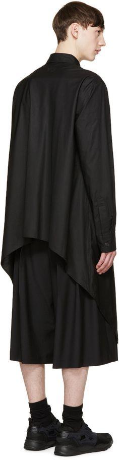 Y-3 Black Peaked Hem Shirt