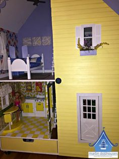 alpine-martin-dollhouse-wood-doll-house-right-closed Dollhouse Kits, Kit Homes, Dollhouses, Miniatures, Dolls, Wood, Furniture, Collection, Home Decor