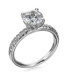Michael B.- Touch Collection 18K White Gold Diamond Pave Setting