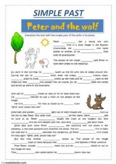 PETER and the wolfLanguage: EnglishGrade/level: intermediateSchool subject: English as a Second Language (ESL)Main content: Past simpleOther contents: English Grammar Worksheets, Reading Worksheets, Grammar Lessons, Worksheets For Kids, English Vocabulary, English Teaching Materials, English Writing Skills, English Lessons, Teaching English