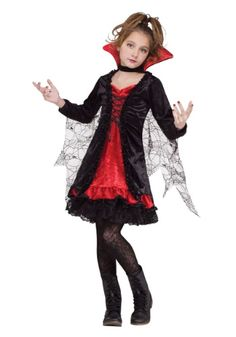 She Can Turn Into A Bat Right Before Your Very Eyes! This Vampire Girl  Child Costume Is A Great Classic Costume For Girls.