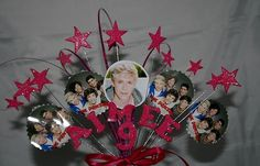 Cake Topper Star Burst One Direction The Wanted JLS Personalised Birthday Party | eBay