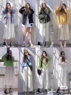 Korean Girl Fashion, Korean Fashion Trends, Korean Street Fashion, Ulzzang Fashion, Muslim Fashion, Asian Fashion, Look Fashion, Winter Fashion, 80s Fashion