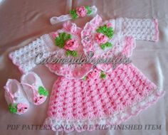 Baby crochet pattern Baby dress Pattern by CutenCuddlyOutfits