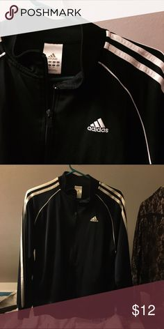 Adidas navy sweater Track sweater Euc Adidas Sweaters