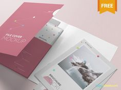 Free Folder Mockup PSD by ZippyPixels