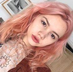 New Ideas Hair Color Orange Pastel Hair Color Pink, Cool Hair Color, Purple Hair, Pastel Orange Hair, Pink Peach Hair, Green Hair, Orange Pink, Short Pastel Hair, Purple Ombre